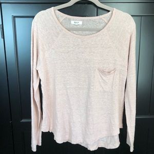 MADEWELL | Pink Burnout Long-sleeved Top